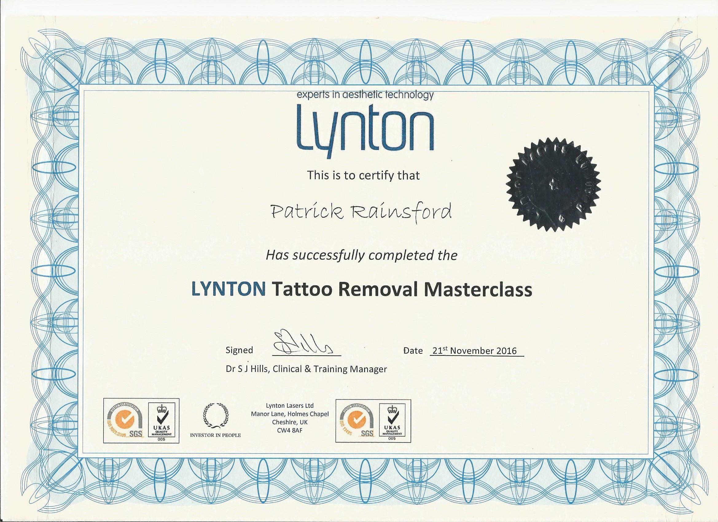 Lynton Tattoo Removal Masterclass